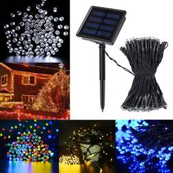 100 200 LED Solar Power String Fairy Light Garden Christmas