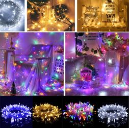 100 LED 10M Fairy String Lights Copper Wire Lamp Holiday Xma
