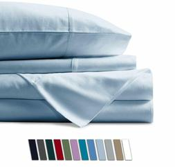 100% Egyptian Cotton 6 Piece Bed Sheets - 600 Thread Count L