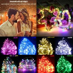 100LED 10m Fairy Curtain String Lights Wedding Party Room De