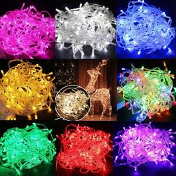 LED Christmas Tree Fairy String Party Lights Lamp Xmas Water