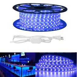 15m 5050 LED Flexible Tape Rope Strip Light Blue Outdoor Wat