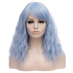 "BERON 18"" Women Girls' Lovely Medium Curly Wig with Bang"