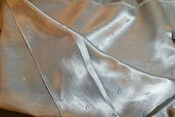 2 + yds Smokey Light Blue silky Polyester Home Decor Drapery