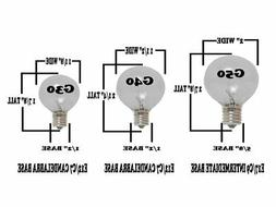 Novelty Lights 25 Pack G50 Outdoor Patio Globe Replacement B