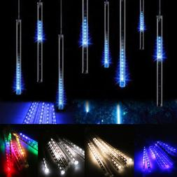 30cm 144 LED Lights Meteor Shower Rain 8 Tube Xmas Snowfall