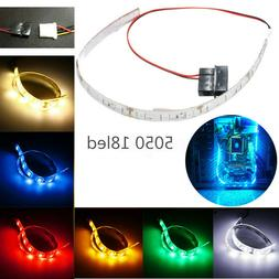 30CM 5050SMD 18LED Strip Flexible PC Computer Case Xmas Deco