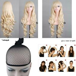 BERON 32'' Women Girl's Soft Long Curly Synthetic Wigs Costu