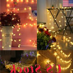 40-100LEDs Waterproof LEDs Star String Fairy Lights 8 Functi
