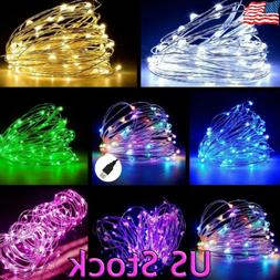 5/10/20M LED Copper Wire String light Indoor Outdoor Decorat