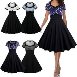 50s 60s Women Summer Swing Vintage Retro Pinup Rockabilly Ev