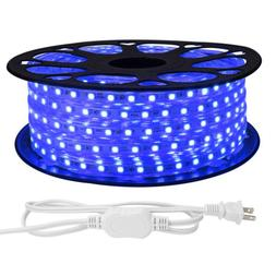 60Leds/m Waterproof 5050 LED Tape Rope Light Blue Home Decor