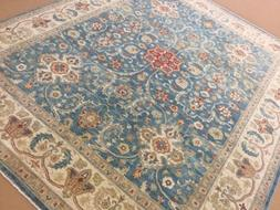"8'.2"" X 10'.1"" Light Blue Beige Oushak Persian Oriental Area"