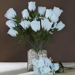 Efavormart 84 Artificial Buds Roses Wedding Flowers Bouquets