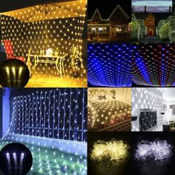 96-220LED Net Mesh Corded Fairy String Lights Outdoor Waterp