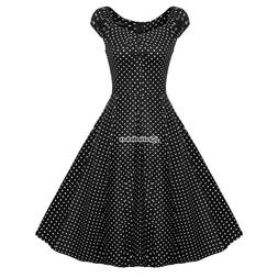 ACEVOG Retro Women 1950s Vintage Style Sleeveless Swing Part