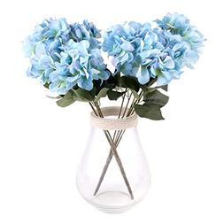 Louiesya Artificial Flowers Silk Hydrangea Flowers with 5 Bi