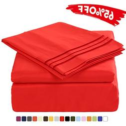 Merous 3 Piece Bed Sheet Set with Deep Pocket - Hypoallergen