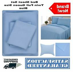 Bed Sheet Set Basic Microfiber Bedding and Pillowcase Twin F