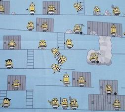 Best Family Ever Minions BTY Quilting Treasures Jail Cell Br