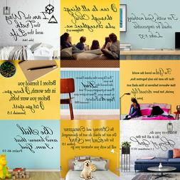 Bible Verse Wall Decal Sticker Word Vinyl Removable Quote Sc