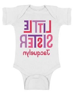 Big*Middle*Little Sister Sibling ~ Personalized ~ Infant Tod