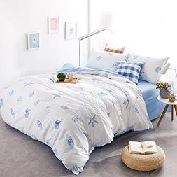 Brandream Blue And White Nautical Bedding Coastal Beach Them