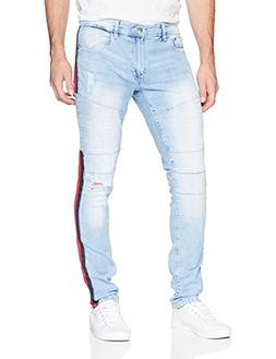 WT02 Men's Clean Washed Fashion Stretch Ripped Denim Patns,