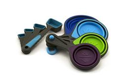 Collapsible Measuring Cups and Measuring Spoons - Portable F