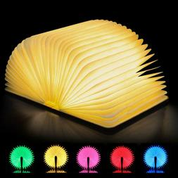 Colorful USB Rechargeable LED Folding Book Light Nightlight