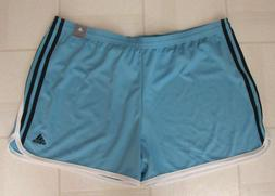 Adidas Coupe Standard Light Blue Shorts Side Stripes 2XL Wom
