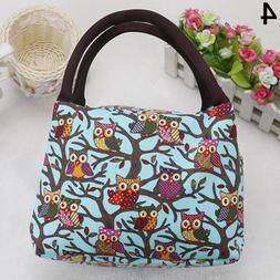 Angel3292 Cute Owl Pattern School Office Thermal Insulated L