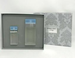 D&G Light Blue - 2 PCS Gift Set Hard Box