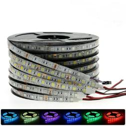 DC12V 1M 5M SMD 5050 RGB white Waterproof 300 LED Flexible 3