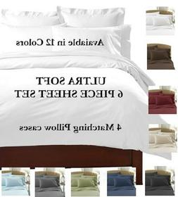 6 PIECE 2100 COUNT DEEP POCKET BAMBOO SERIES BED SUPER SOFT