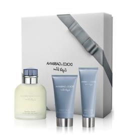 Dolce & Gabbana Light Blue Pour Homme 3pcs Gift Cologne and