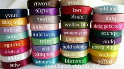 "DOUBLE FACED SATIN ribbon 3/8 "" satin ribbon 5 yards you pic"