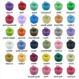 """Double Faced Satin Ribbon 5-10 Yards Roll 2-1/4"""" Inch Multip"""