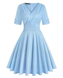 ROOSEY Womens Dresses Party Dresses 1950s Vintage Dresses Sw