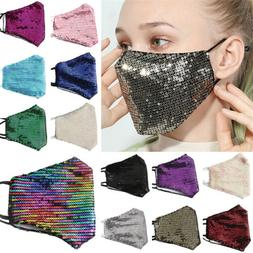 Fashion Sequins Bling Bling Glitter Washable Face Cover Mask