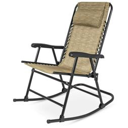 Foldable Zero Gravity Rocking Patio Recliner Chair outdoor f