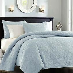 Full / Queen size Quilted Bedspread Coverlet with 2 Shams in