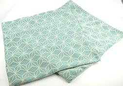 Geometric Design Light Blue 20x20 Pillow Square Cover Soft M