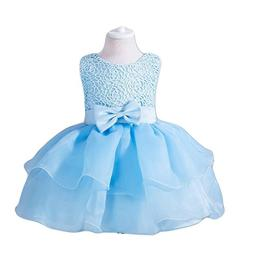 Girl Dress Kids Ruffles Lace Party Wedding Dresses Embroider
