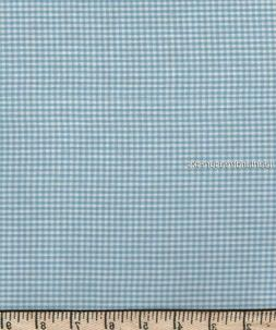 Dunroven House H-4203 Homespun Fabric  Light Blue ~ Cream Sm