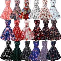 Hepburn Women Vintage 50s Retro Rockabilly Pinup Party Swing