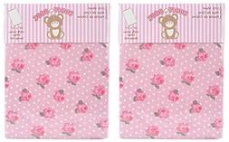 Honey Baby Roses & Snow Toddler Bed or Crib Sheets 2-Pack