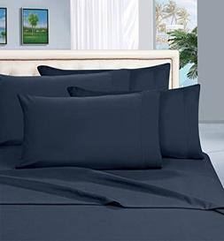 Mayfair Linen 100% Egyptian Cotton Sheets, Navy Blue Twin Sh