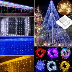 Indoor Outdoor 96~700LED String Light Christmas Icicle Snow