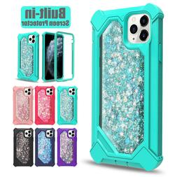 For iPhone 11 Pro Max 360 Shockproof Hybrid Rugged Glitter H